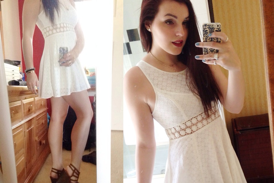 Shannon Macy S White Lace Dress Jessica Simpson Wooden Wedges Rafe Phone Case Belated Easter Lookbook