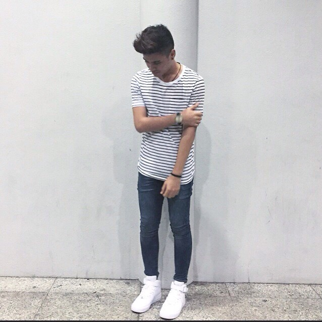 Sham S H M Striped T Shirt Topman Skinny Jeans Nike Airforce