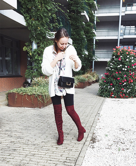 Magna G. - Burgundy Over The Knee Boots