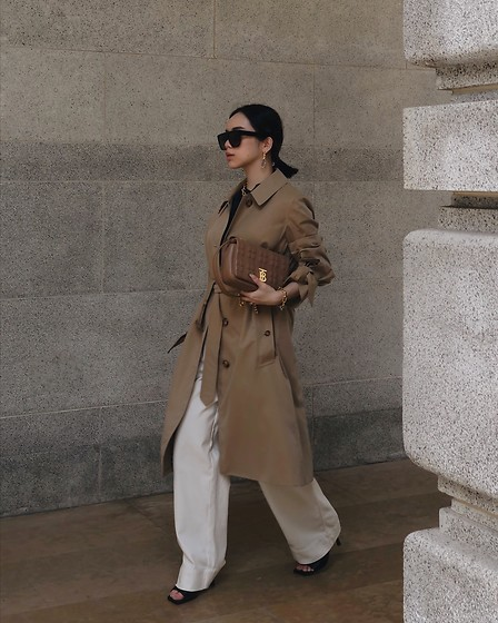 Willabelle Ong - Burberry Trench Coat, Burberry Lola Bag - Trench