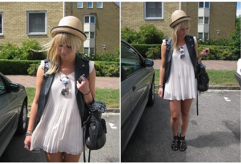 Sofie Ekstrom - H&M Hat, Bik Bok Tunic, Mq Leather Waistcoat - Today I look like this