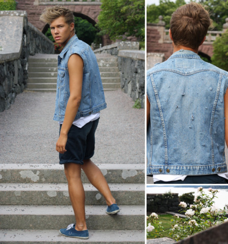 Andreas Wijk - Vintage Vest, The Local Firm T Shirt, Filippa K Shorts, Fred Perry Shoes - Http://kanal5.se/andreas