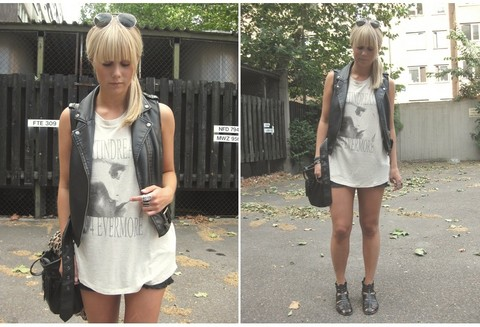 Sofie Ekstrom - H&M Top, Mq Leather Waistcoat - Look of today