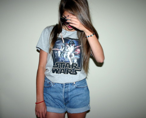 Megan Braaten - H&M Star Wars Tee, Levi's® High Waisted Jean Shorts - Hypocritical