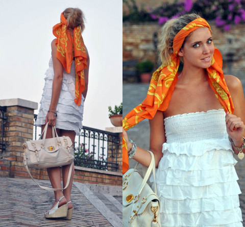 Chiara Ferragni - Miu Bag - Orange head