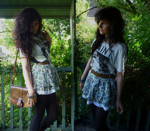 Isabel Scott - Topman Tshirt, Zara Skirt, Vintage Bag - Forever and ever Amen.