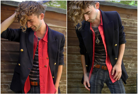 Charlie Matthews - Vintage Blazer, Vintage Shirt, Zara Tee - Smile Like You Mean It