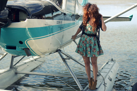 Delightfully Tacky . - Urban Outfitters Dress, Kensiegirl Shoes, Billabong Top - Borne on the FM waves of the heart