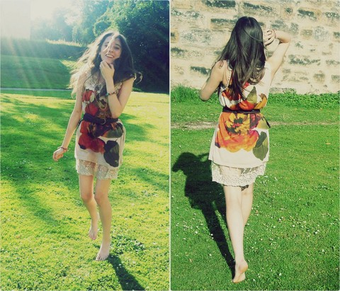 ANJA Z - New Look Flower Dress - Think of all these luminous moments :)