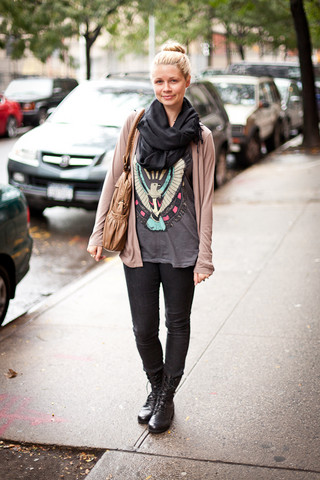 Merrill . - H&M Pashmina, My Mama's Closet Cardigan, Black Skinny Jeans, Seychelles Motorcycle Boots, Forever 21 Eagle Tank - Sweet sun... send me the moon