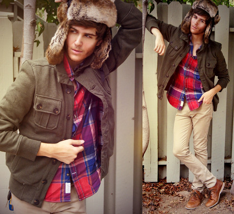 Adam Gallagher - Heritage 1981 Fur, H&M Thermal Jacket, H&M Plaid, Urban Brown Leather - Grand theft autumn