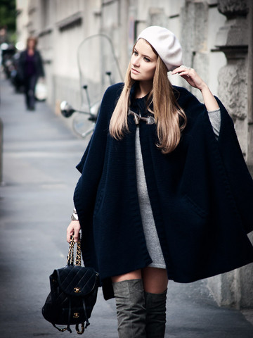 Veronica Ferraro - Topshop Boots, Anneclaire Cape - All I need is to have You here