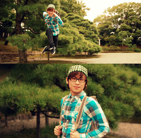Hanz Go - F&H Close Cap, Don Quijote, Tokyo Rucksack, Topman Plaid Polo - The world is my plaground.