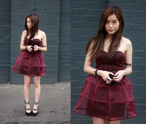 Jessica Tran - Asos Cage Dress, Birthday Gift Studded Maryjane Platforms - Caged up