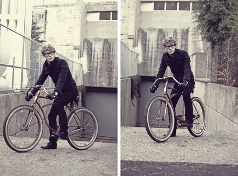 Dorian Sanders - All Saints Jacket, Schwinn Bike - ‡ Racer ‡