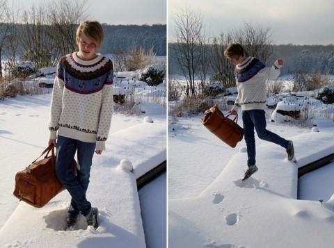 Simon Schmidt - From Canada Knit Jumper, H&M Light Blue Jeans, Lovely Bag - We don't sleep when the sun goes down