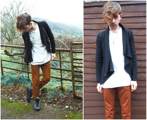 Charlie Matthews - Rick Owens Jacket, All Saints Top, Topman Trousers - Our Skeletons Will Dance Together