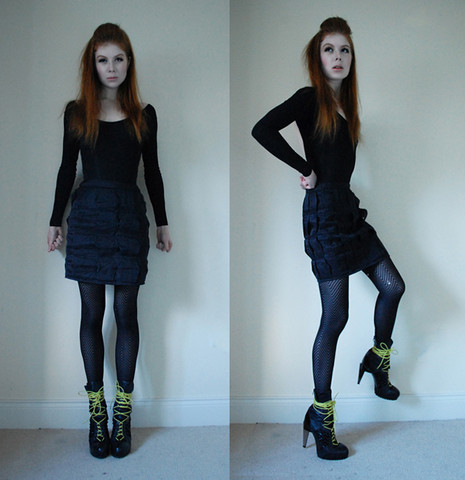 Tahti Syrjala - American Apparel Bodysuit, Topshop Hexagonal Skirt, Topshop Boots - 08.01 ; Re-visiting