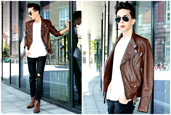 Olive. Wonder - H&M Trend, Zara, Ray Ban Ray Ban, Balmain Pierre - BROWN LEATHER