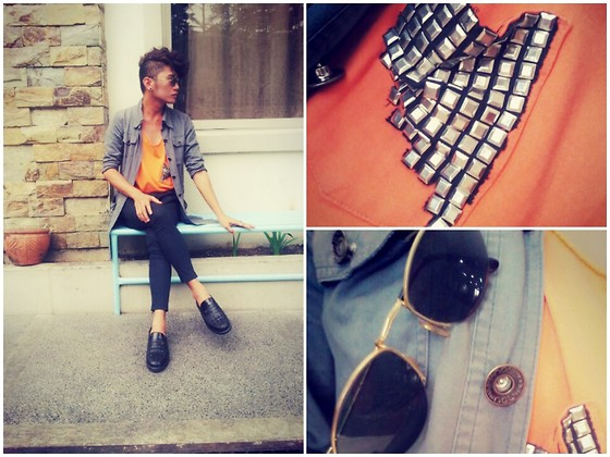 Venn Carino - V909 Studs, Ray Ban Glasses, Vivienne Westwood Pants - By myself