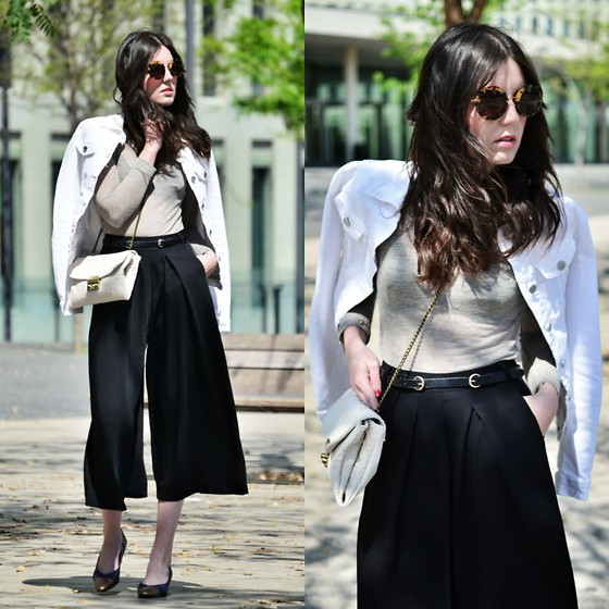 Laura Views - Cowest Jacket, River Island Pants, Brussosa Bag, Vintage Shoes, Miu Sunnies - White and off white