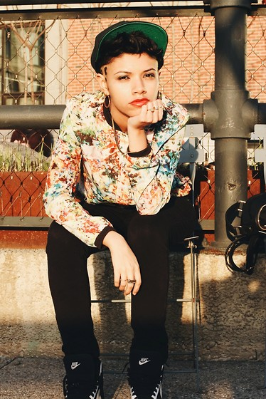 Amanda Martinez - Nike Sneakers, Crooksncastle Snackback, Tobi Jacket - Tomboy chic!