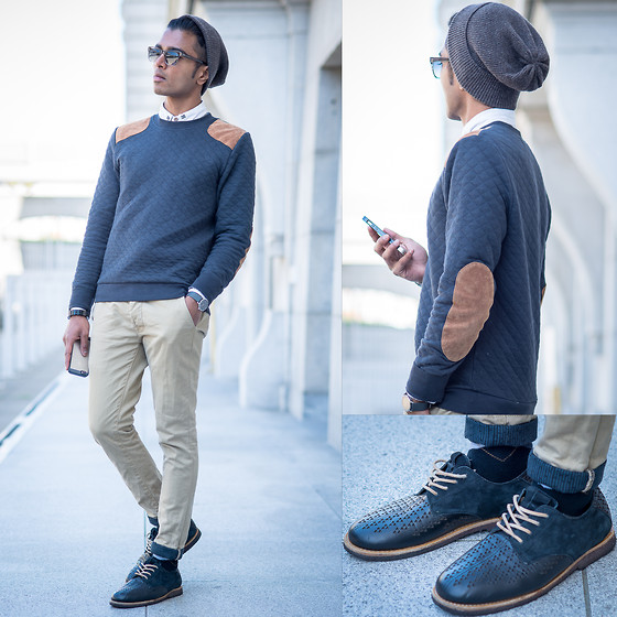 Josh Walter - Topman Jumper/Shirt/Chinos, Muji Beanie/Watch/Socks, Vans Shoes - Masokissed.
