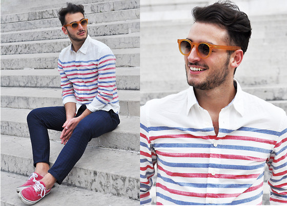 Lorenzo Liverani - Dockers Shirt, Vans Shoes - OH ROME!