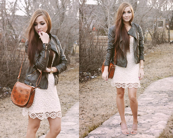Breanne S. - Solective Linda Sandals, Lulu*S White Dress, Chic Wish Leather Satchel - Unknown One