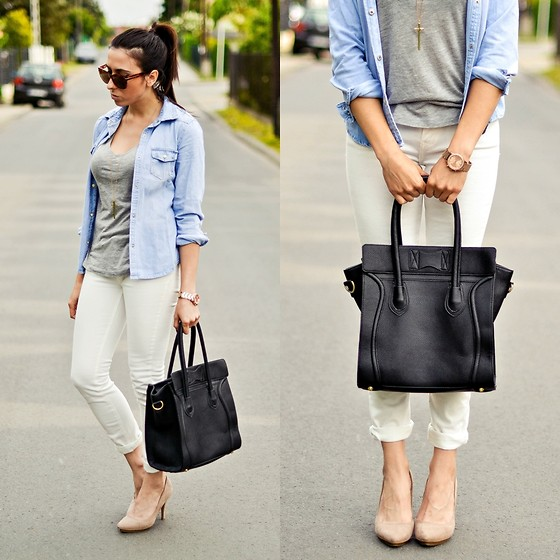 Pam S - 6ks Shirt, Zara Pants, Zara Heels - Denim