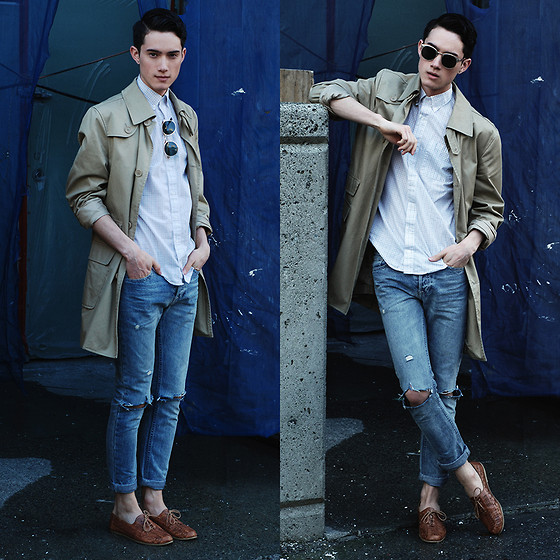Nigel Lew - Zara Trenchcoat, Vintage Woven Leather Shoes, Topman Jeans - The Pacific State