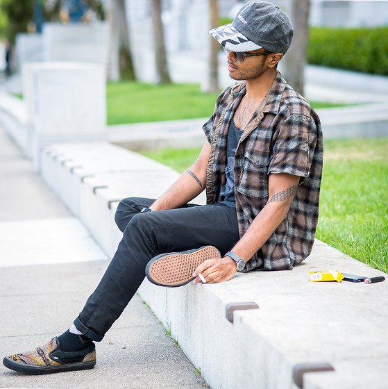 Josh Walter - Pendleton Hat/Shirt, Levi's® Jeans, Muji Watch/Socks, Vans Classics - I Only Think Of You.