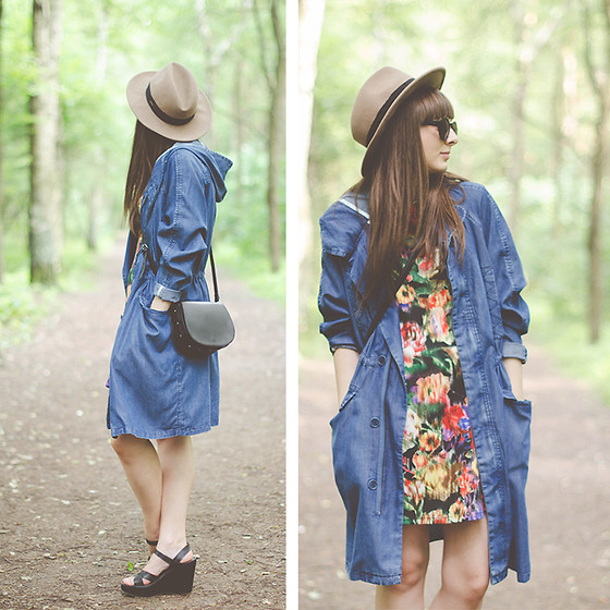 Maddy C - La Redoute Coat, Choies Dres - Flowers & Denim