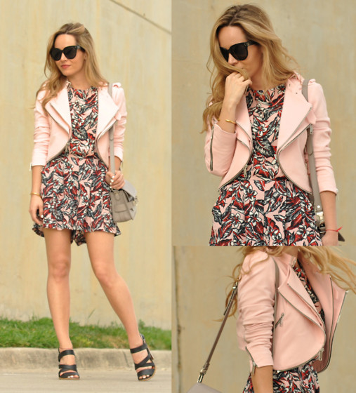 Cassandra De La Vega - Zara Jacket, Zara Jumpsuit, Proenza Schouler Bag, Céline Sunglasses, Tous Bracelet, Mia Shoes - Pink is officially chic!