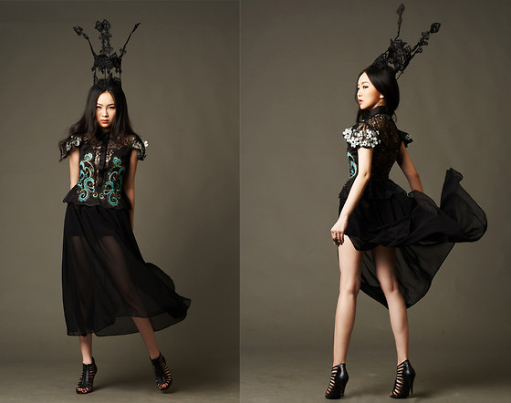 Honey Fay - Grace Deng Dress - You love me cuz I KILL. - www.honeyfay.com