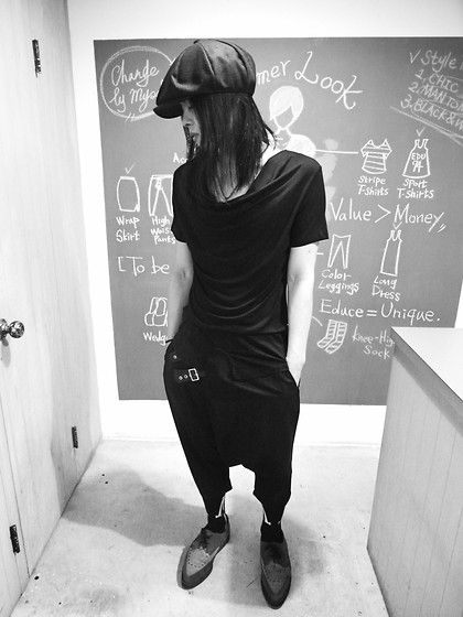 Hipsterken P - Vintage Hat, Drap T Shirt, Harem Pant, 4 Eyes, Underground Creeper - Over you