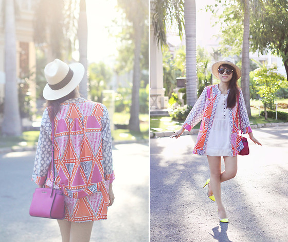 Linda Tran N - H&M Outerwear, Michael Kors Bag, Mango Tunic Dress - Pocketful of sunshine
