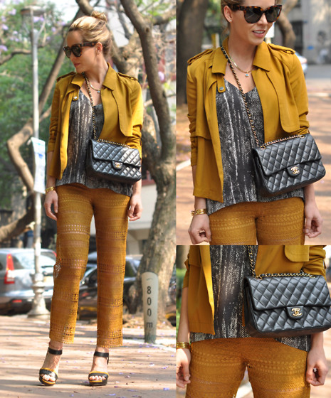 Cassandra De La Vega - Chanel Bag, Zara Jacket, Zara Lace Pants, Fendi Shoes, H&M Blouse, Céline Sunnies - Lace