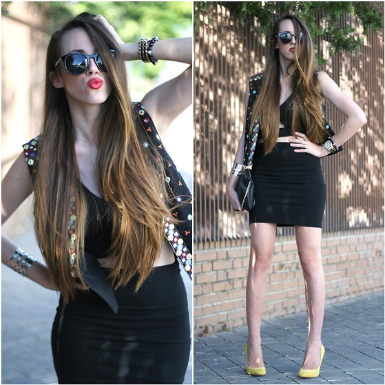 Talía Cardeña - Pull & Bear Skirt, Zara Heels, Lefties Vest, Frontrowshop Crop Top - Birthday party