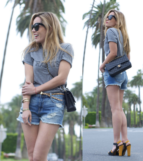 Cassandra De La Vega - Rodarte Shirt, Zara Shorts, Fendi Shoes, Chanel Bag, Céline Sunnies - LA