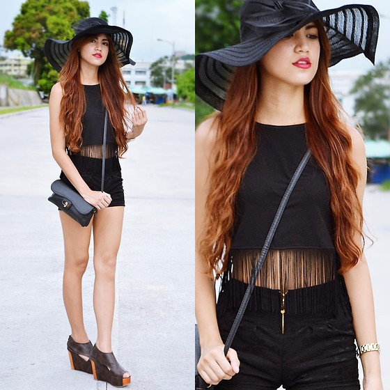 Jennica Sanchez - Tres Wedge, Forever 21 Fringed Top - Let them stare