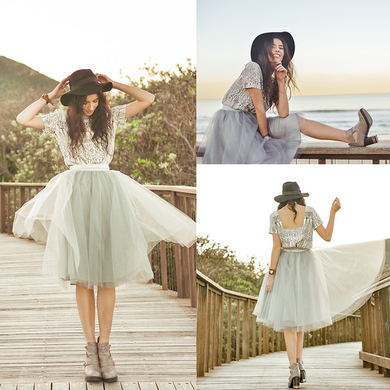 Elle-May Leckenby - Alexandra Grecco Raleigh Blouse   Ivory, Alexandra Grecco Gretta Tulle Skirt   Dusty Blue - Sea Foam
