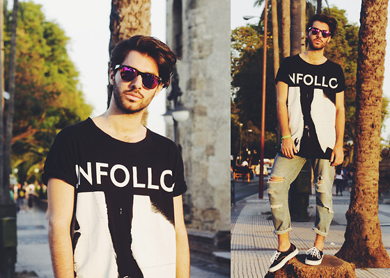JJ Reyes - Pull & Bear T Shirt, Zara Jeans, Vans Shoes, Zerouv Sunglasses - UNFOLLOW