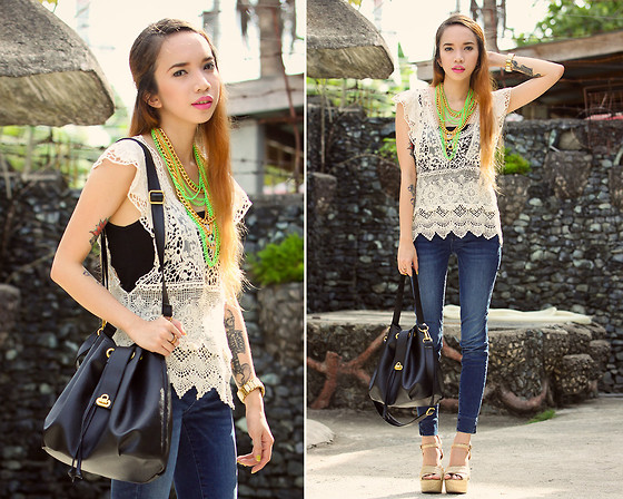 Wicked Ying NEW - Oasap Crochet Top, Libebi Neon Necklace, Maxene's Bucket Bag - Take Me There