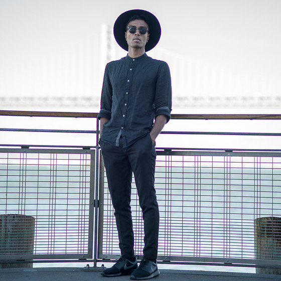 Josh Walter - Ann Demeulemeester Hat, Thrifted Shirt, Topman Trousers, Nike Shoes - Imperium.