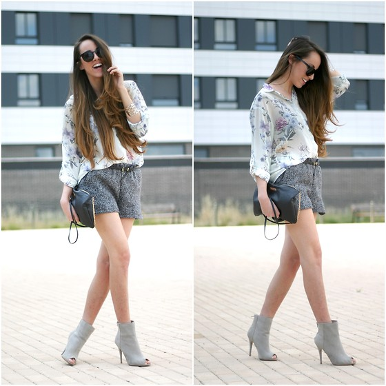 Talía Cardeña - Oasap Shirt, Primark Booties - Thinking of grey