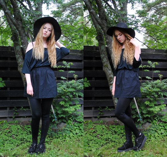Noora V - H&M Skirt, H&M Hat, Cheap Monday Top, Underground Creepers - Cheap Monday, Casual Tuesday