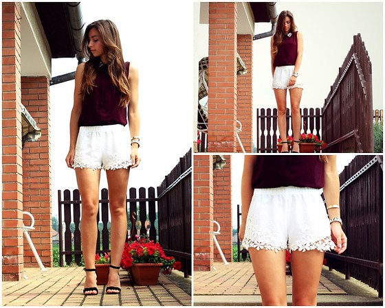 Betty K - New Yorker Shirt, Zara Shorts, New Look Heels - Red Wine Laces