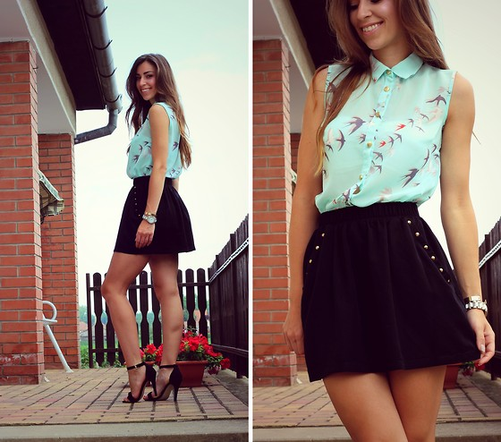 Betty K - Primark Top, Pull & Bear Skirt, New Look Heels - Fly, fly little bird