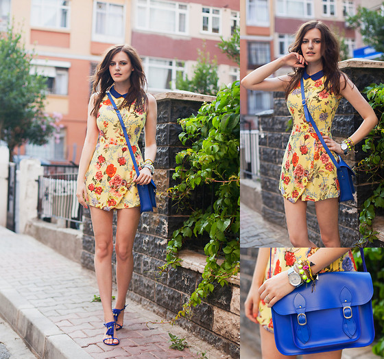 Viktoriya Sener - Wal G Jumpsuit, H&M Sandals, Asos Bracelets, Hotic Bag - SUPER YELLOW